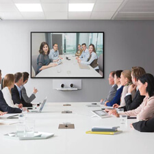 conduct meeting using data collaboration device